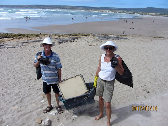 we care about the environment at Barry's.....and help with Witsand beach clean up.