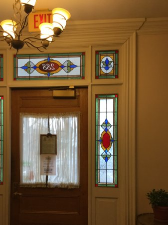 Stained Glass Panels On Entry Door Picture Of Harding House