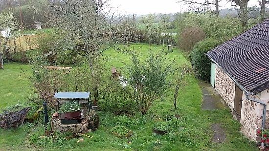 Videix, France: Main garden
