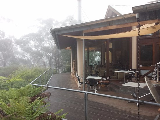 The balcony - the Conservation Hut, Wentworth Falls