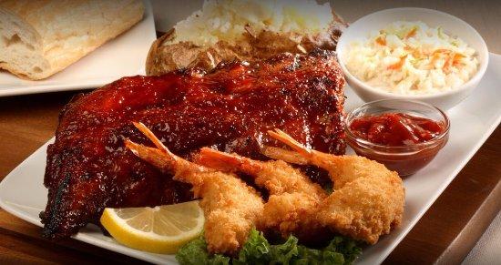 The Patio: BBQ Ribs And Jumbo Fried Shrimp