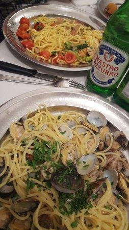 Spaghetti alle vongole + birra