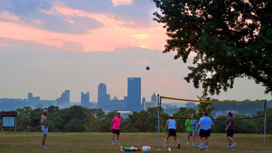 Situated in the heart of Oakland, Schenley Park has come to be Pittsburgh's civic park.