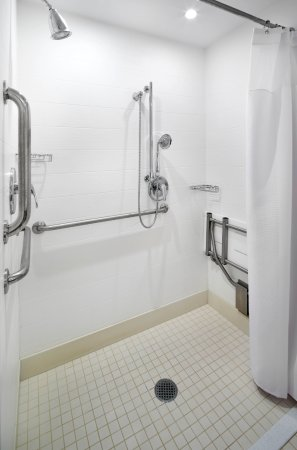 Accessible Roll In Shower Picture Of Springhill Suites By Marriott Pittsburgh Bakery Square Tripadvisor