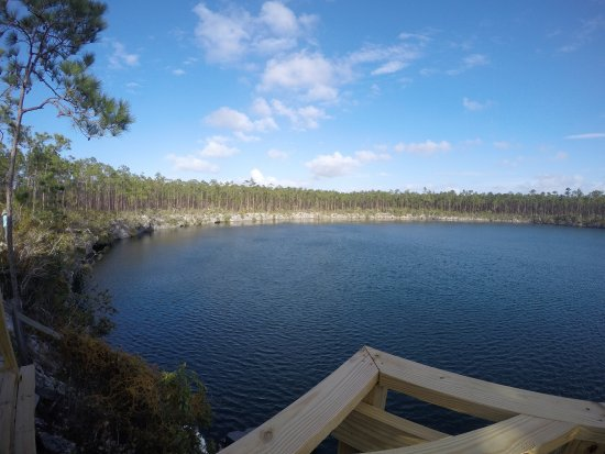 Blue Holes National Park: View from the pavilion