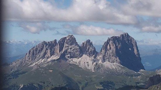 Malga Ciapela, อิตาลี: panoramica dalla funicolare