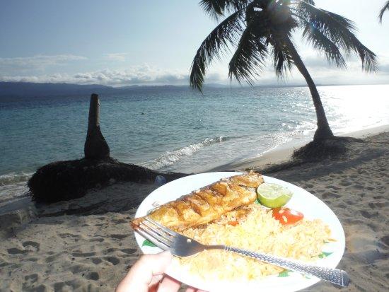 Franklin's: Que peixe delicioso e com essa vista ficou muito mais saboroso