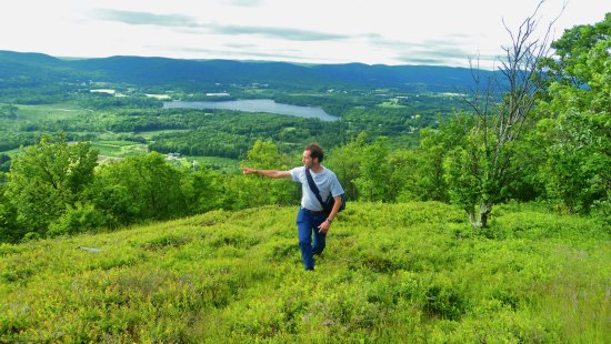 Pleasant Valley Sanctuary: View from the top (my son Martin)