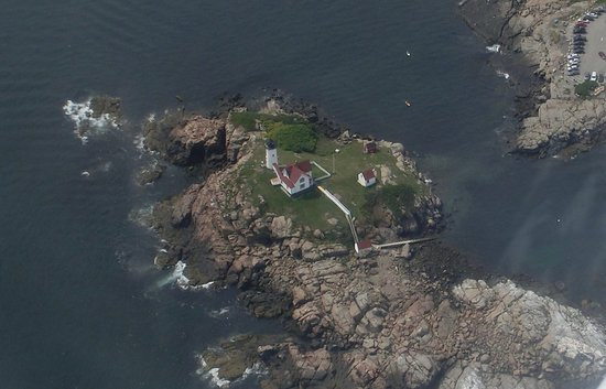 Cape Neddick Nubble Lighthouse: Flying Over Nubble Light In Cape Neddick, Maine