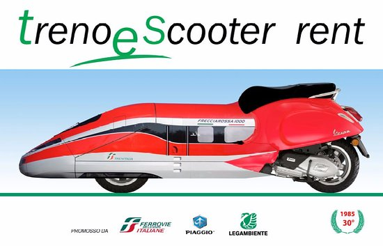 Treno e Scooter Vespa Rent