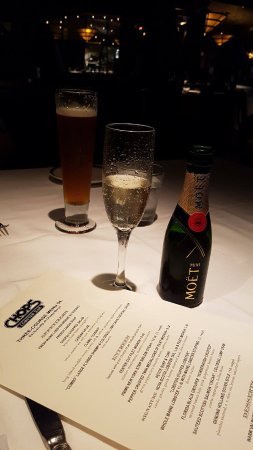 Chops Lobster Bar : They also sell Moet by the half bottle.
