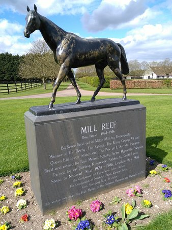 Newmarket, UK: Statua Mill Reef