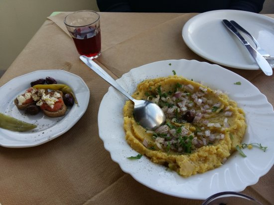 Karteradhos, Greece: φάβα Σαντορίνης