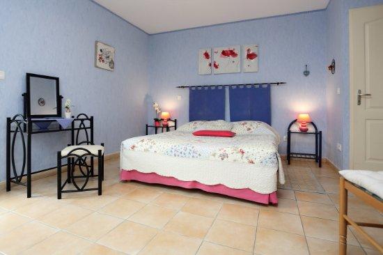 Le Buisson-de-Cadouin, France: Chambre Bleue 18m2 sortie rez de jardin
