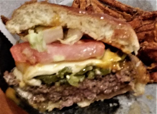 Scotia, NY: Firehouse Burger, their rendition of medium-rare.