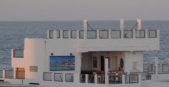 Casa Sirena Hotel: This view of Casa Sirena is from the rooftop of nearby Hotel D'Gomar.