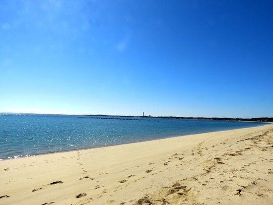 Sandbars on Cape Cod Bay: Walking the beach.
