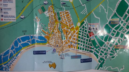 Map of Benidorm and where hotel is located Picture of Hotel RH