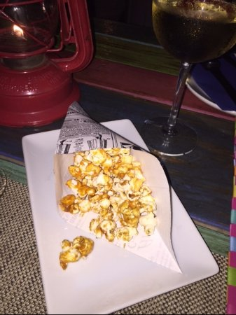 Island Harbour, Anguilla: The complimentary popcorn