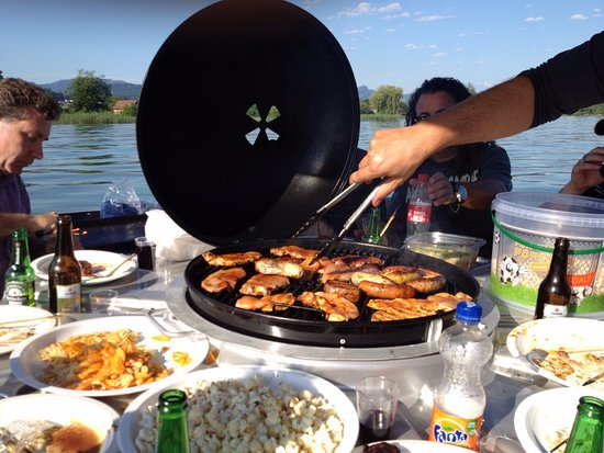 Floating Table - Grill on the Water! - Picture of BBQ Donut Boat ...