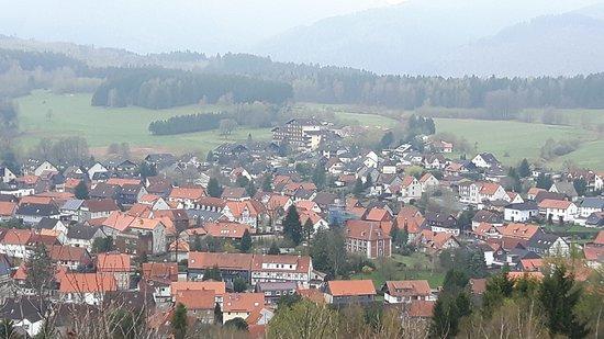 Sonnenhotel Wolfshof: Uitzicht over het dorp