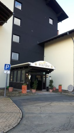 Sonnenhotel Wolfshof: De entree van het hotel