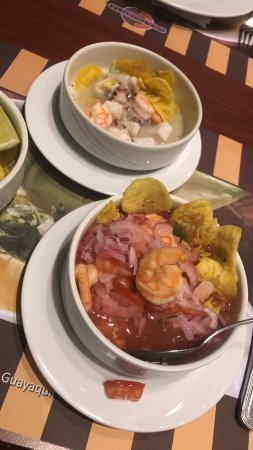 Hilton Colon Guayaquil: Ceviche at the buffet , so good. 24 hr resteraunt. buffet closes around 11 then you can order fo