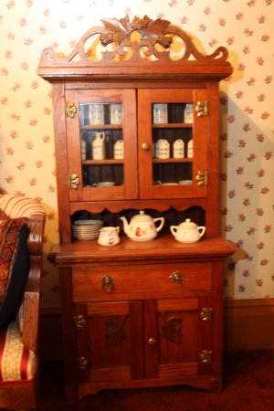 Delavan, WI: China hutch in playroom, perfectly proportioned for tiny humans