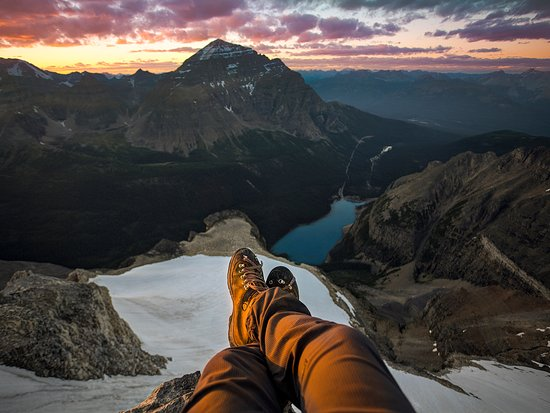 Hiking Above Moraine Lake Picture Of Banff National Park