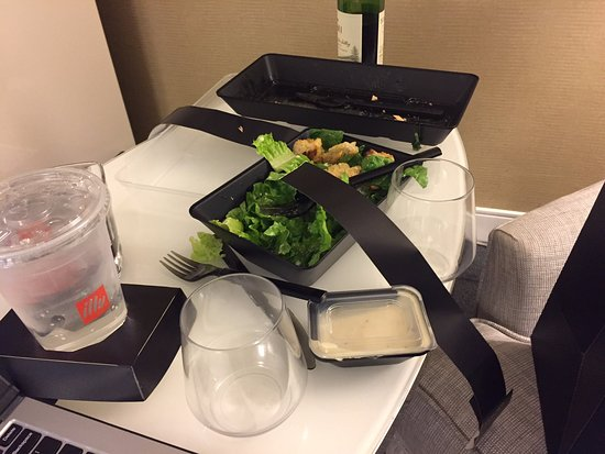Renaissance Chicago Downtown Hotel: My $76 plastic dinner.