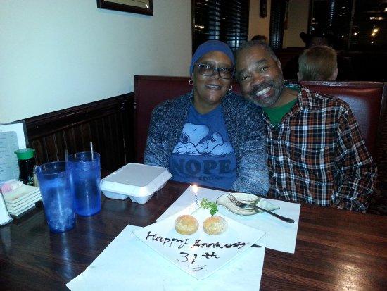 Moneta, VA: 31st Wedding Anniversary at Edo's
