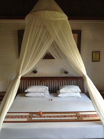 Ubud Bungalow: Was SO happy to come to this beautiful, big, comfortable bed after so long of traveling!