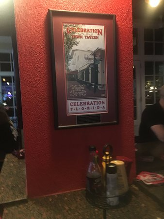 Celebration Town Tavern: Sign at the outside bar