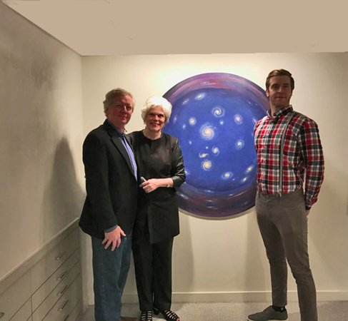 Chestertown, MD: Artists Greg Mort and Jon Mort with gallery owner Carla Massoni