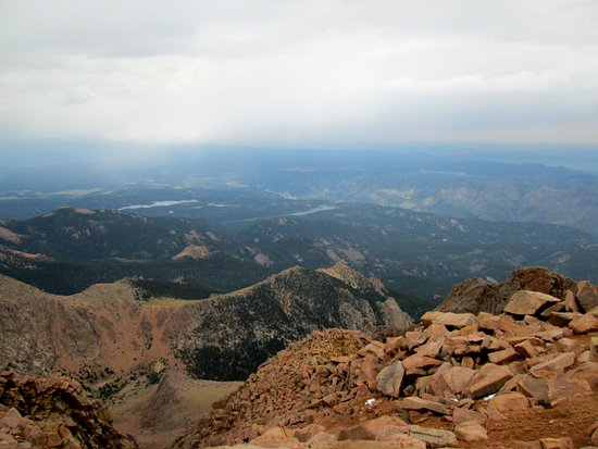 Pikes Peak Cog Railway View From The Top Of Pike S