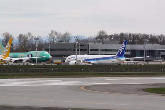 Mukilteo, WA: Airline livery from around the world on the flight line.