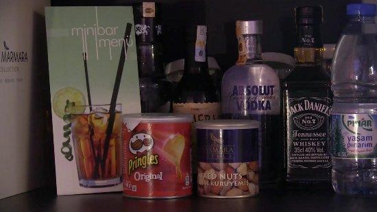 The Marmara Antalya: Liquor and party food in the Marmara Hotel, Antalya