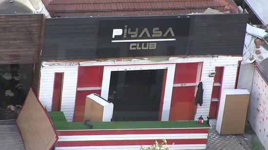 The Marmara Antalya: A nightclub seen from the city-side room at the Marmara, Antalya