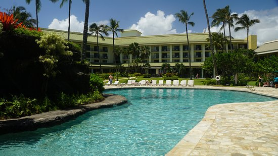 Kauai Beach Resort One Of The Pools With Hotel In Background