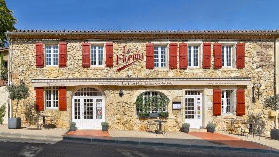 Castera-Verduzan, Frankrike: Façade Auberge
