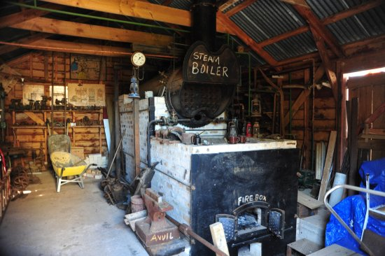 Steam boiler to drive a steam engine which will drive the stamper ...