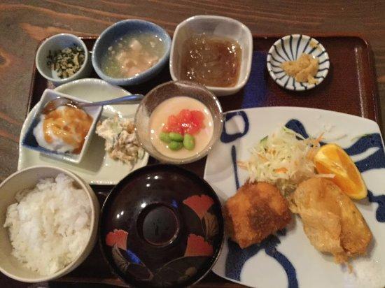 Oshima-gun Tatsugo-cho, Japón: とうふの定食