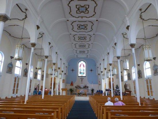 Inside of the Saint Mary Star of the Sea church