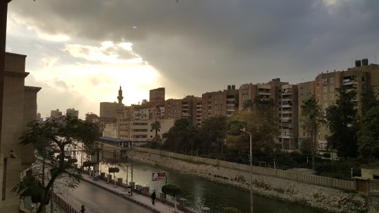 Zagazig, Egipt: View from window... no pic of Pizza because it is so great - eaten immediately!