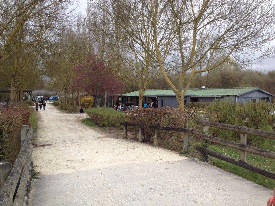 Aigrefeuille D'Aunis, France: A droite le restaurant sur l'eau