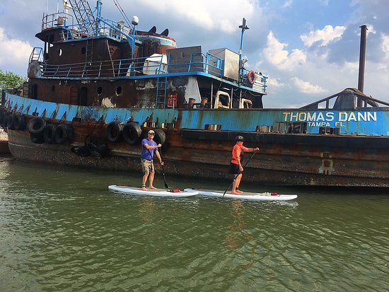 Paddle boarding lesson in historic downtown Fernandina Beach