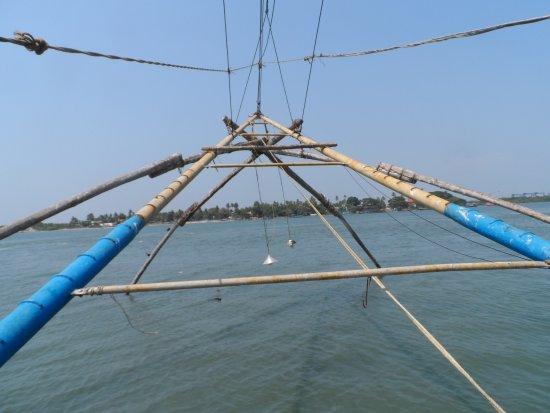 Fort Kochi Beach: nets