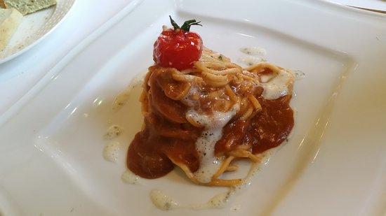 Wijdewormer, The Netherlands: Spaghetti met een saus van strandkrab