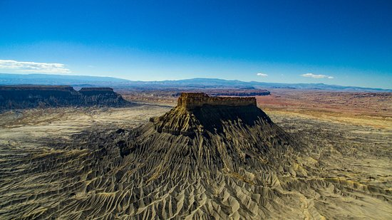 Caineville, UT: A phot of Factory Butte taken with my inspire 1 drone. Its just a stunning structure.