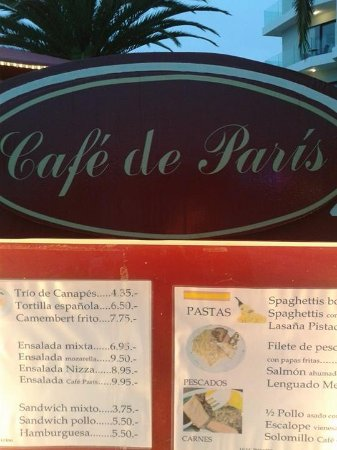 Cafe de Paris, absolut keinen Besuch wert.